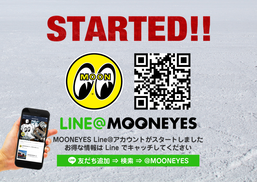 MOONEYESがLINE@アカウントを開設しました!
