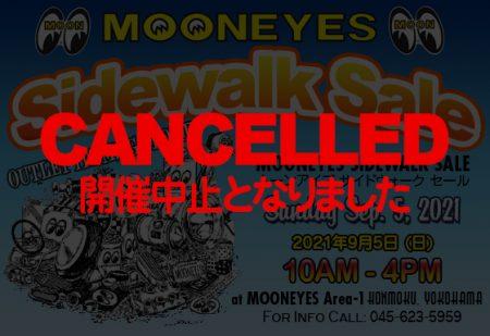 9月5(日) Sidewalk Sale 開催中止のお知らせ